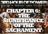 "President Smith said that sacrament meeting is the ""most sacred, most holy, of all the meetings in the Church."" Why? Why must we partake of the sacrament?"