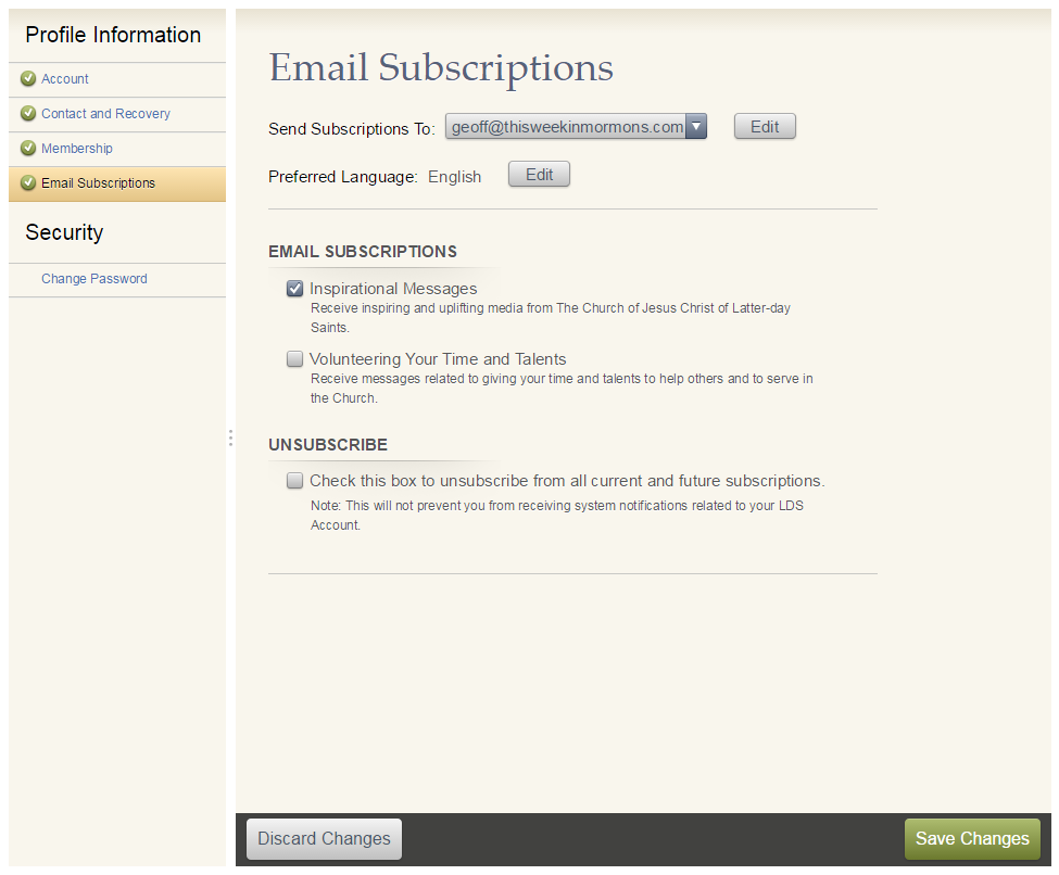 LDS Church Adds Email List Functionality to LDS.org Accounts - This ...