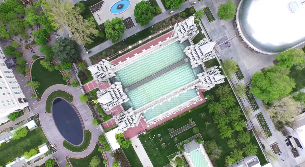 Salt Lake Temple Drone