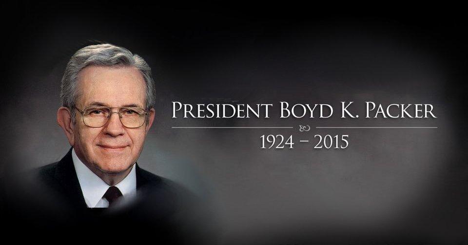 Mormon Apostle President Boyd K. Packer Dies at 90 Years Old