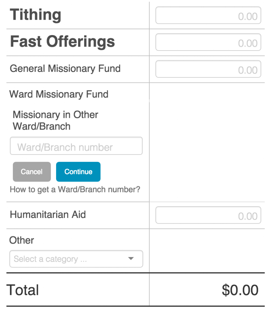 LDS Online Tithing 3
