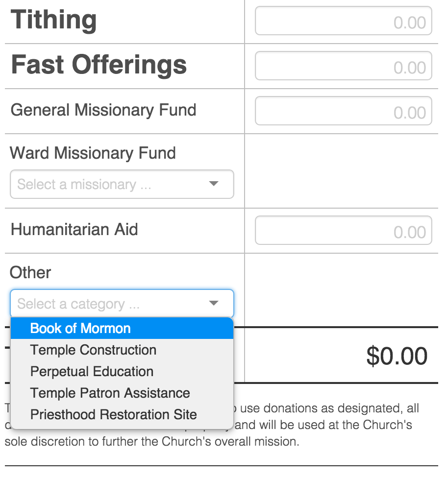 LDS Online Tithing 4