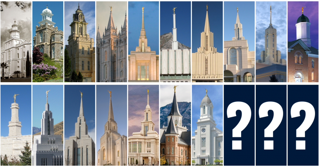 Utah Temple Collage