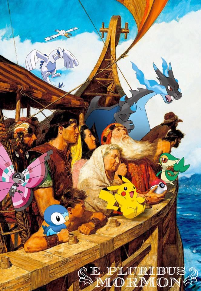 Pokemon Go on Nephi's Boat