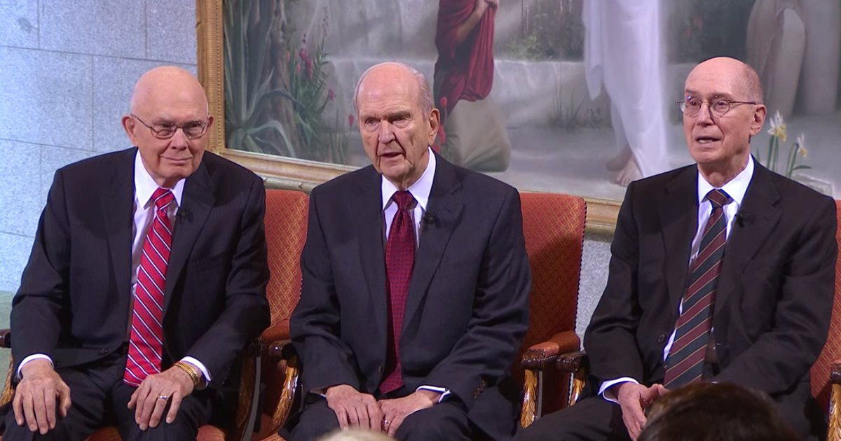 Russell M. Nelson Set Apart as 17th President of LDS Church, Dallin H. Oaks as First Counselor and Henry B. Eyring as Second Counselor