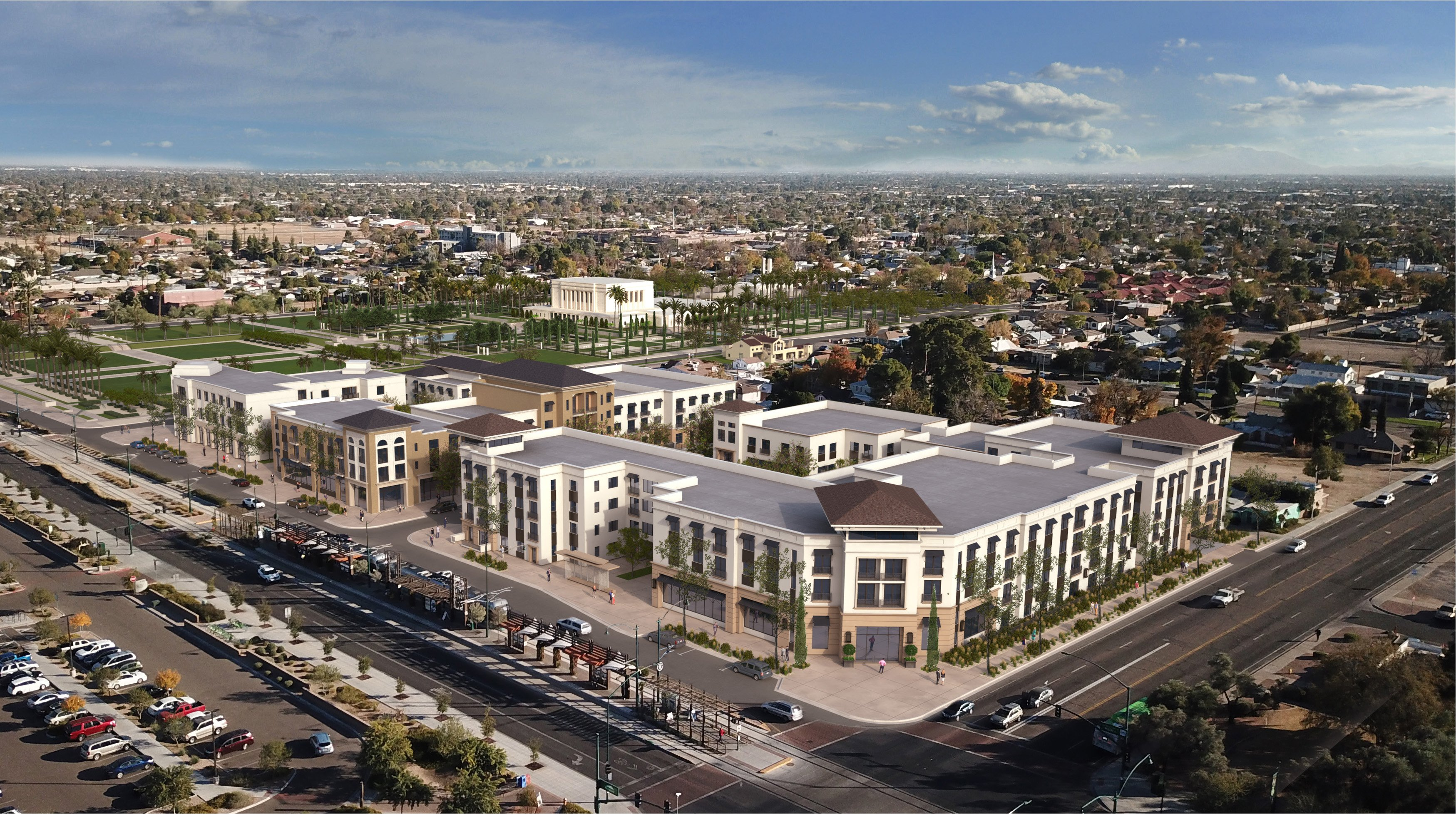 Mesa Temple Redevelopment Rendering