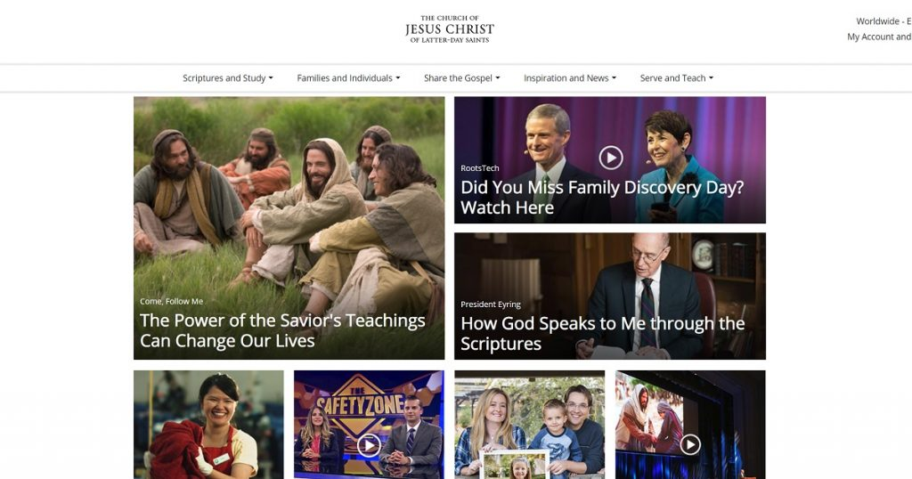 The Church Of Jesus Christ Of Latter Day Saints Drops Ldsorg Domain