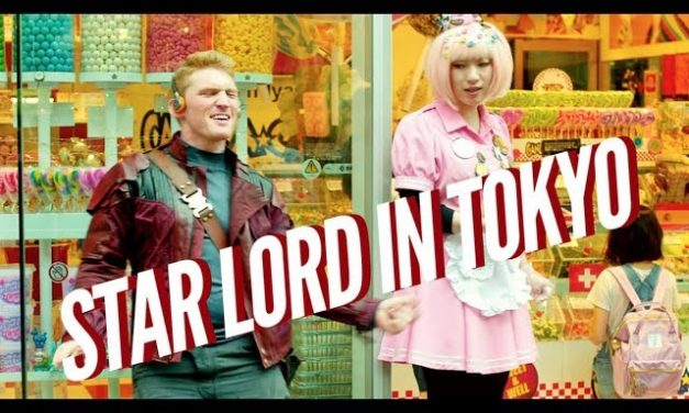 Star Lord Dances through the Streets of Tokyo